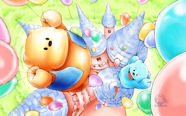 Holiday Birthday Cute Cartoon Teddy Bear Balloon HD Wallpaper | Background Image