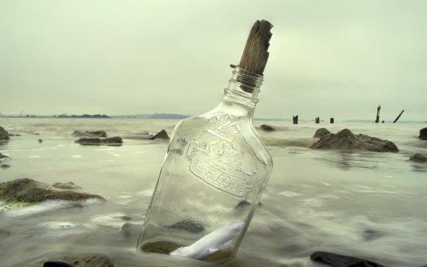 Man Made Bottle Message HD Wallpaper | Background Image