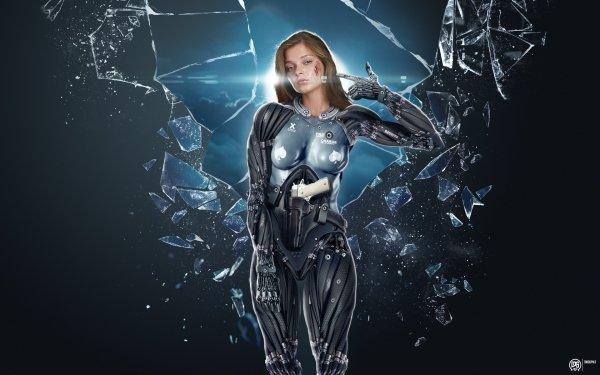 Sci Fi Cyborg Blood HD Wallpaper | Background Image