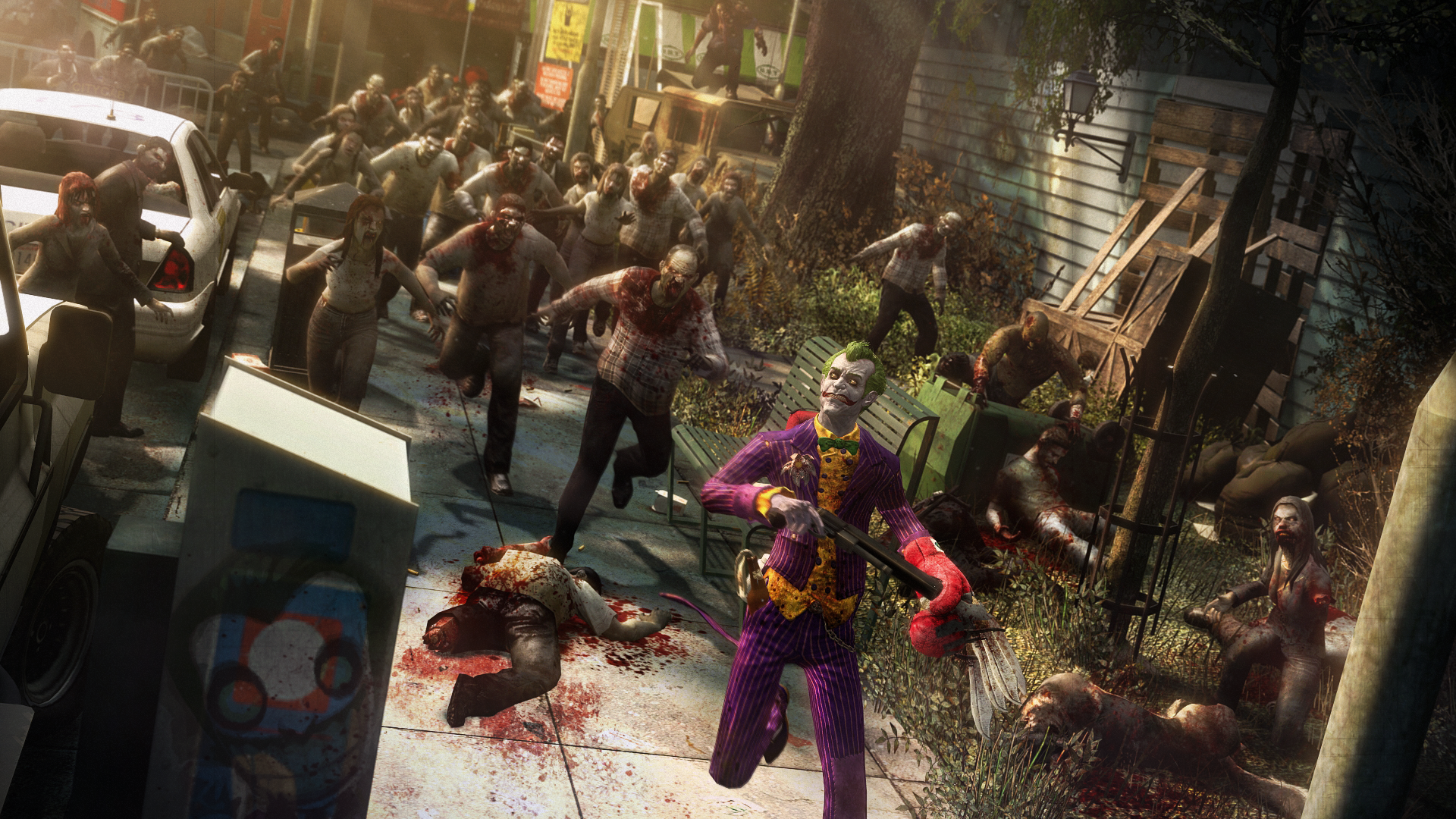 Video Game - Batman  Joker Zombie Blood Chase Wallpaper