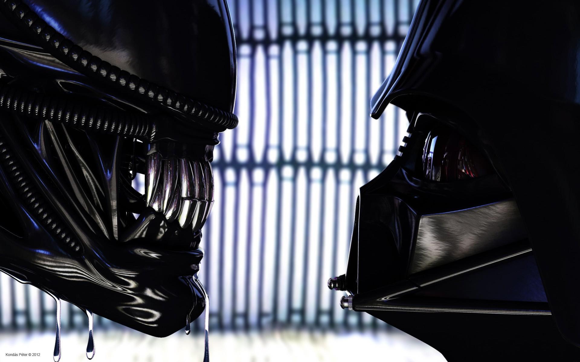 http://kondaspeter.deviantart.com/art/Darth-Vader-vs-Alien ...