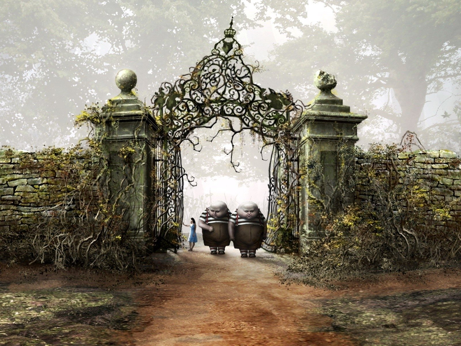 Tim Burtons Alice In Wonderland Fondo De Pantalla And Fondo