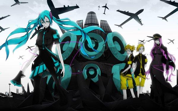 Anime Vocaloid Hatsune Miku Luka Megurine Rin Kagamine Len Kagamine Song Illustration Love is War HD Wallpaper | Background Image