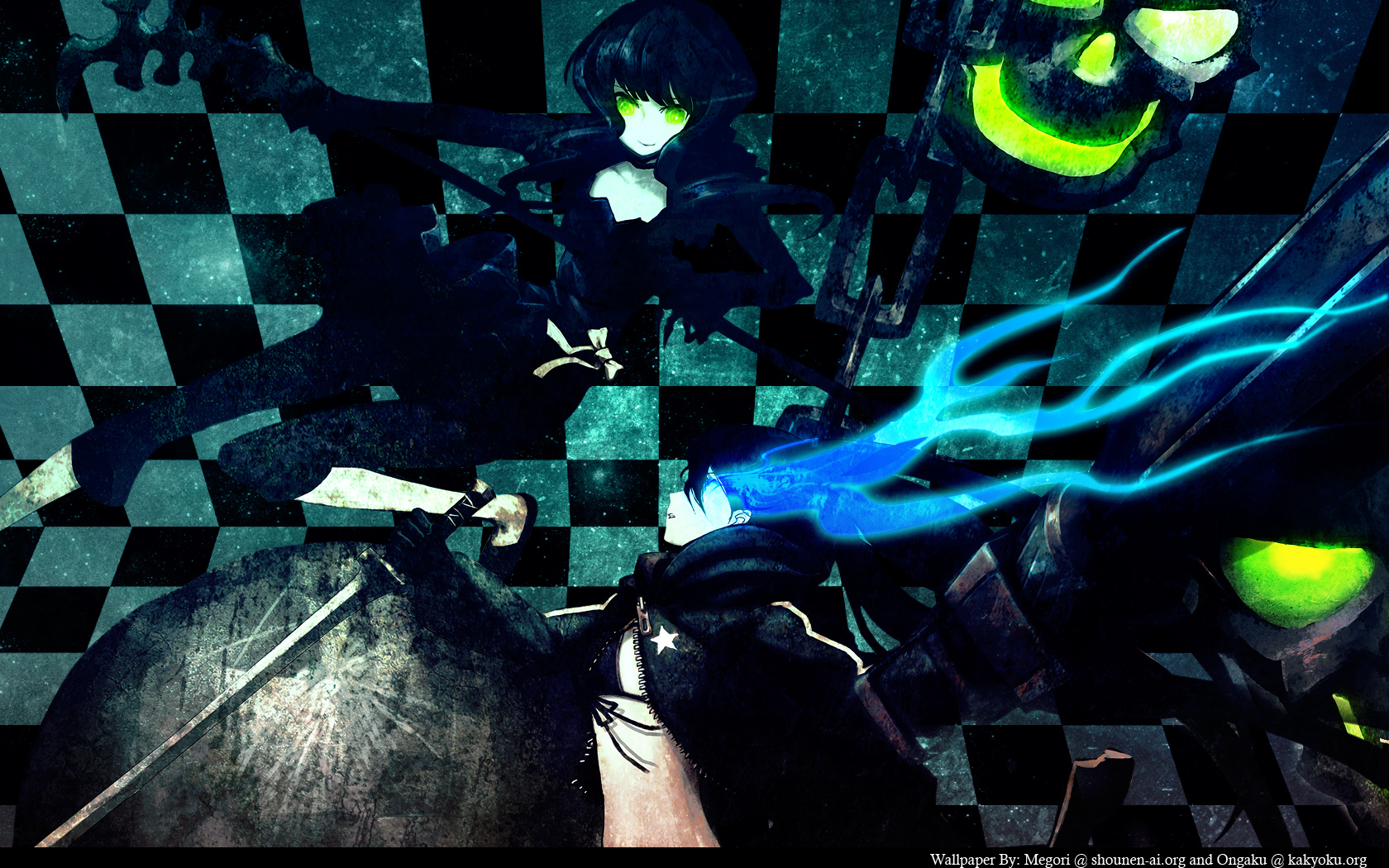 Black rock shooter wallpaper and background image - Download anime wallpaper pack ...