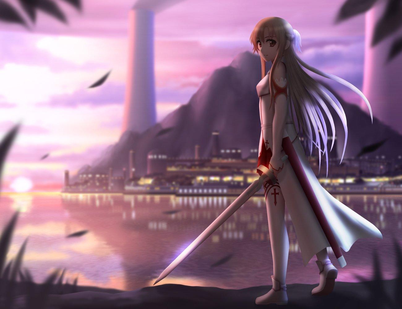 Anime - Sword Art Online  Anime Sword Asuna Yuuki Wallpaper
