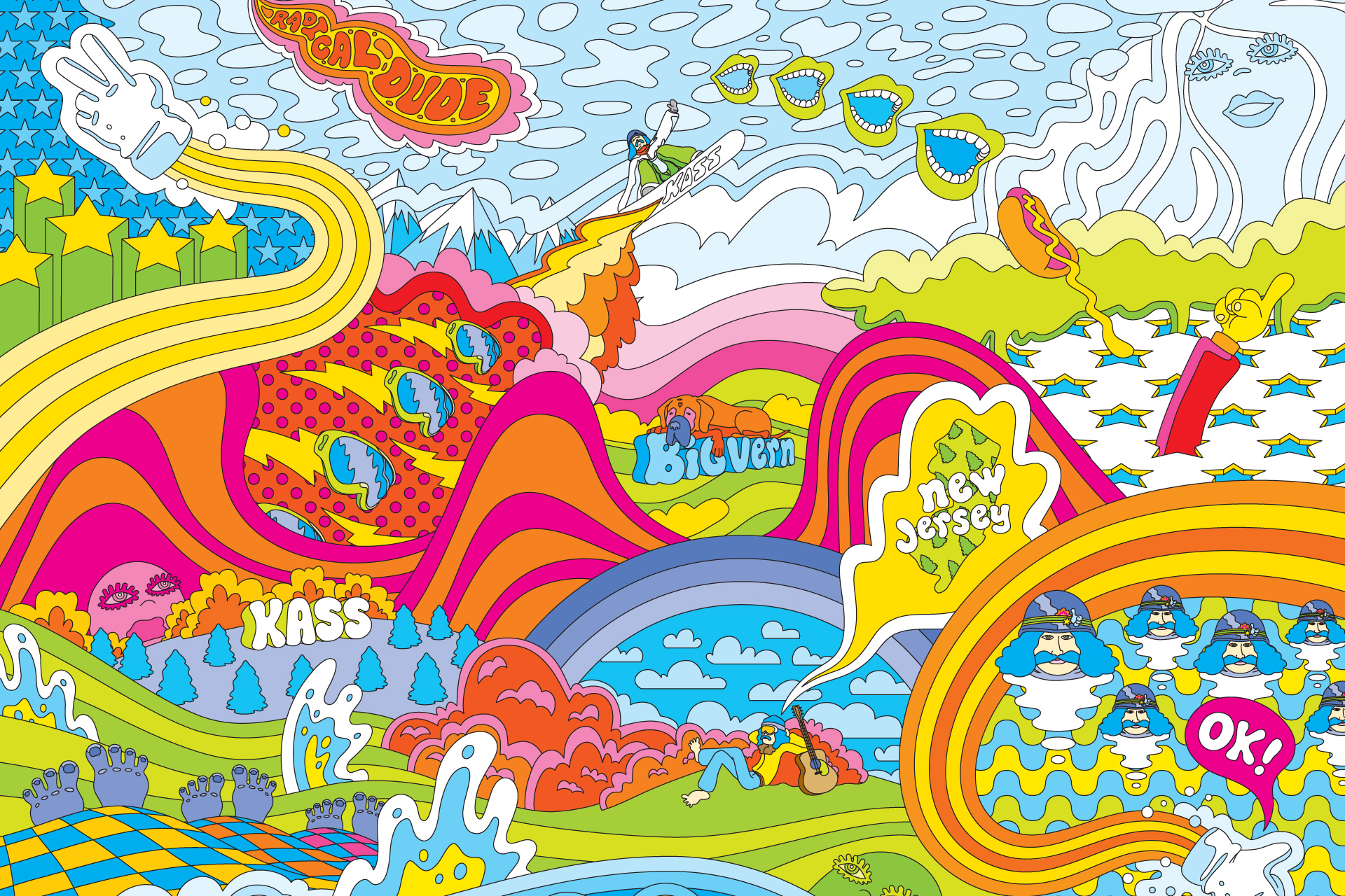 Psychedelic Twitter Backgrounds