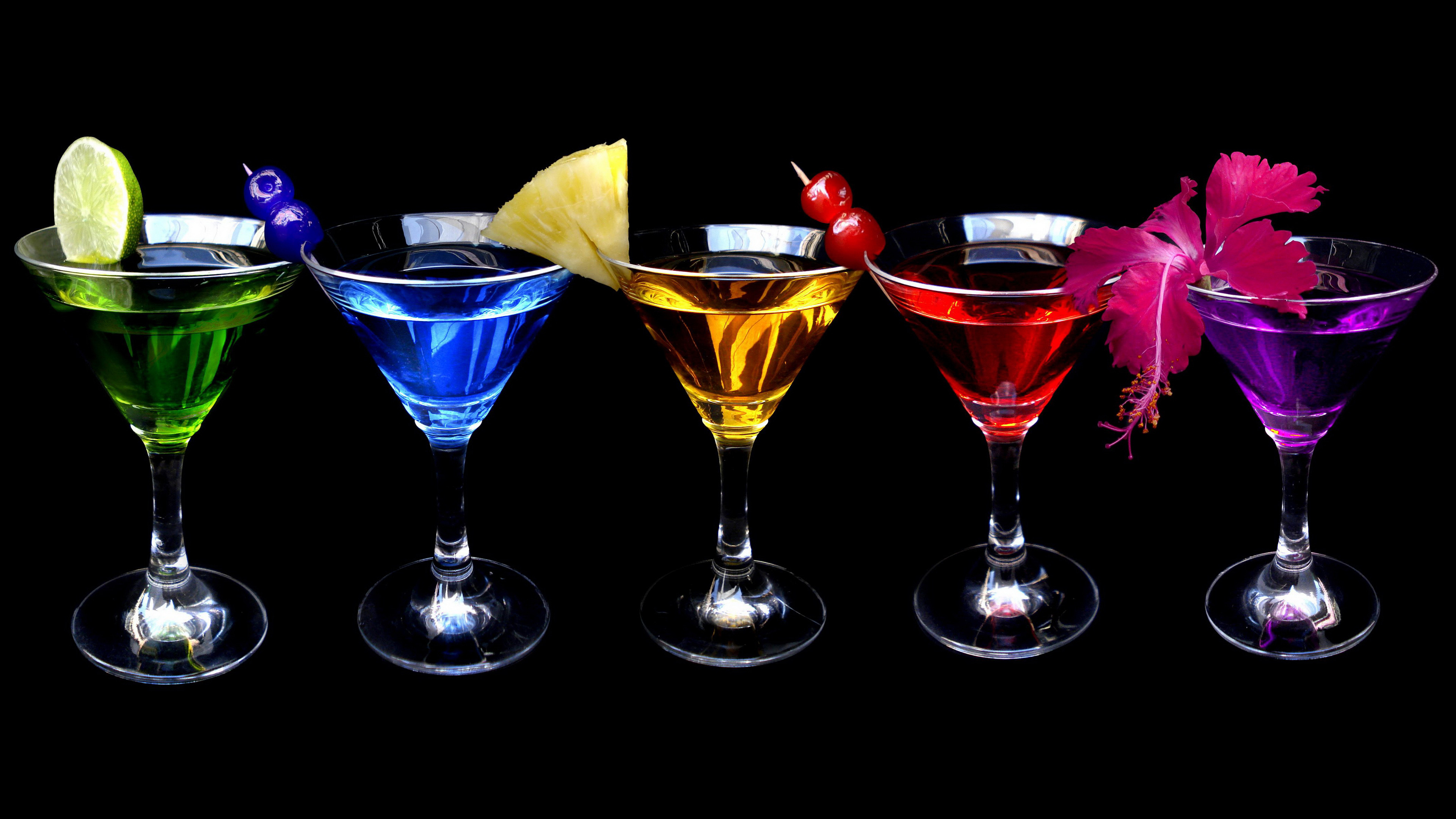 Rainbow Cocktails 4k Ultra HD Wallpaper And Background