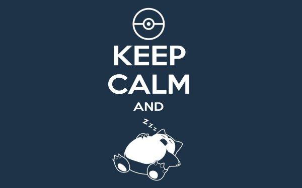 Video Game Pokémon Snorlax Keep Calm HD Wallpaper | Background Image