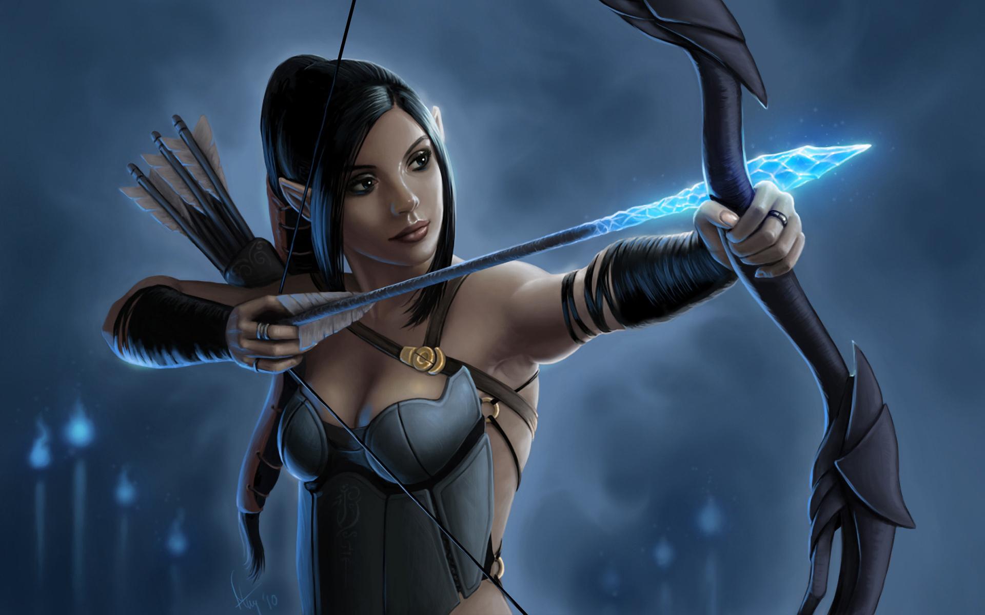 Fantasy Art Elves Wallpapers Hd Desktop And Mobile: Elf Archer Full HD Wallpaper And Background Image