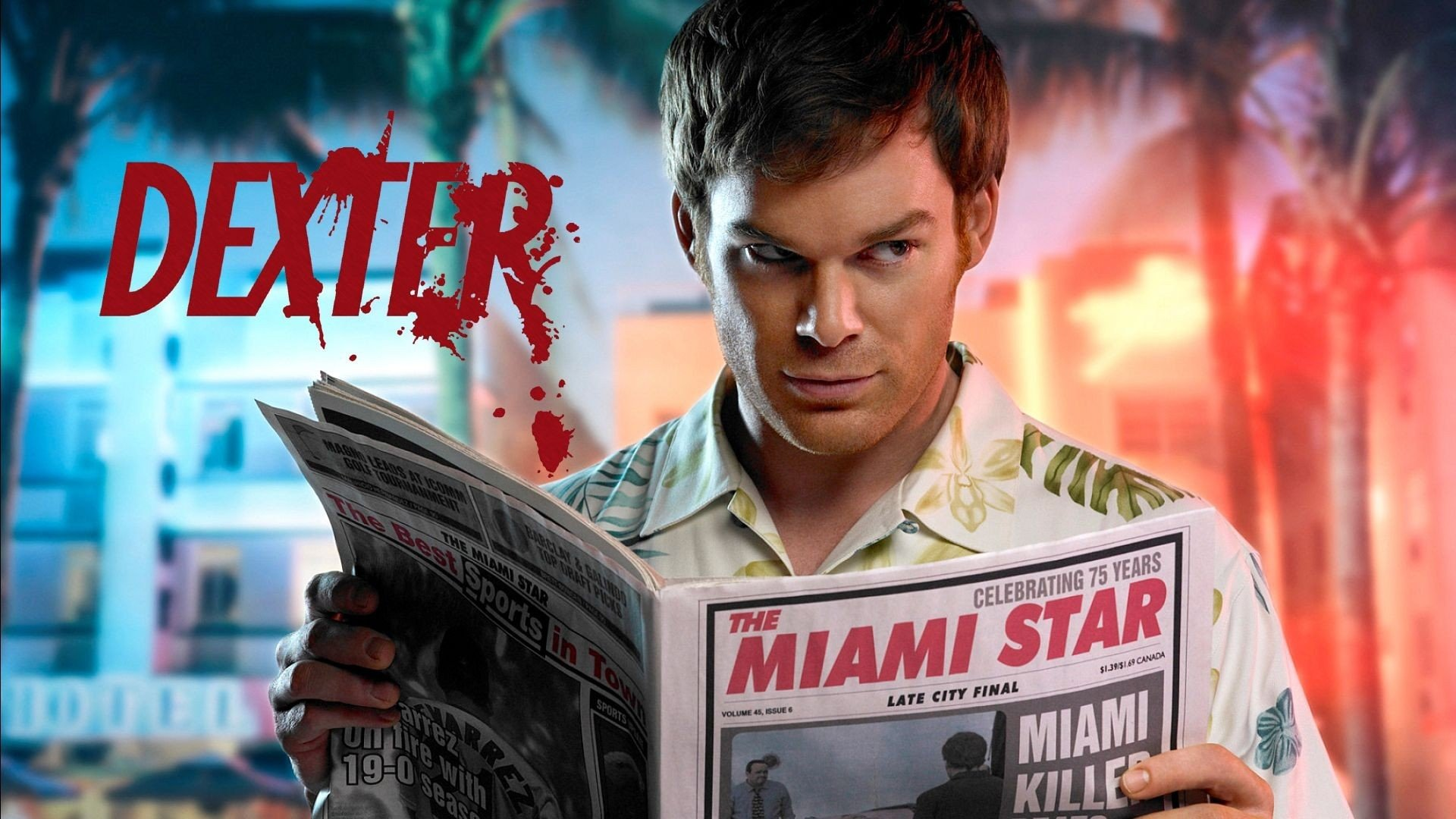 TV-program - Dexter  Michael C. Hall Dexter (TV Show) Dexter Morgan Bakgrund