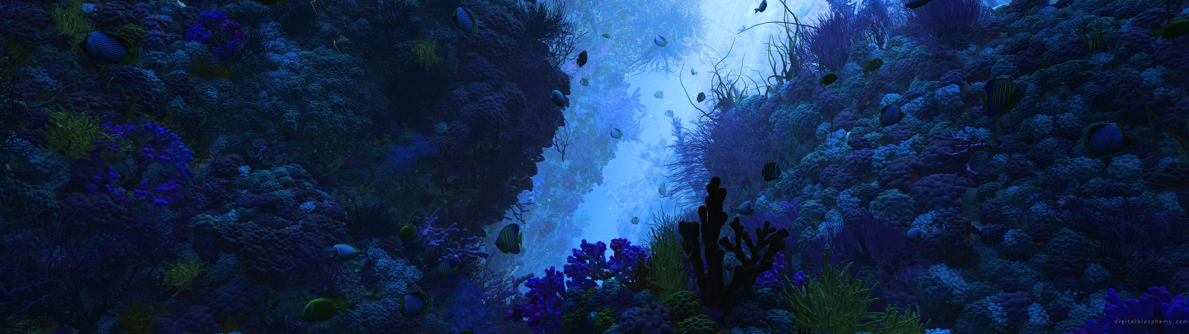 Background image 3840x1080 - Multi Monitor Ocean Wallpaper