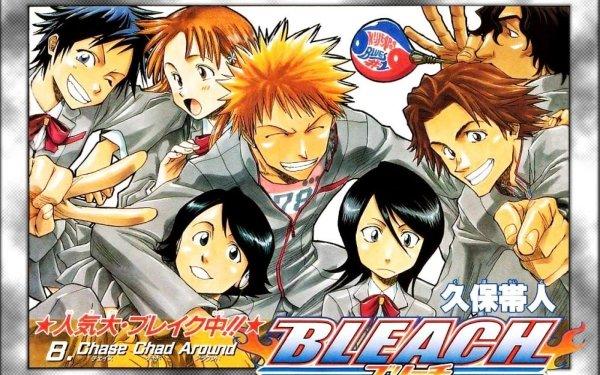 Anime Bleach Ichigo Kurosaki Orihime Inoue Tatsuki Arisawa Yasutora Sado Rukia Kuchiki HD Wallpaper | Background Image