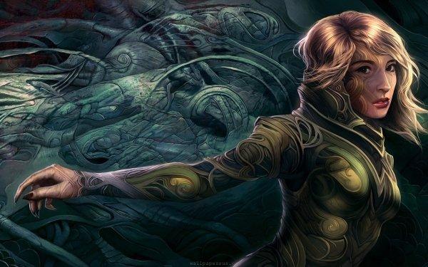 Fantasy Women Druid HD Wallpaper   Background Image