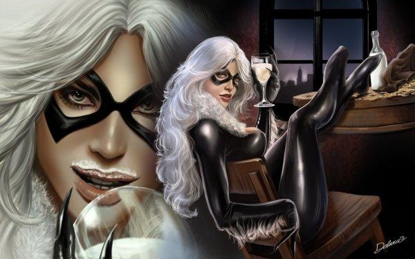 Bande-dessinées Chatte noire Black Cat Fond d'écran HD | Image