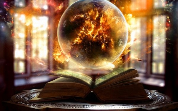 Fantasy Book Ball Light Magic HD Wallpaper | Background Image