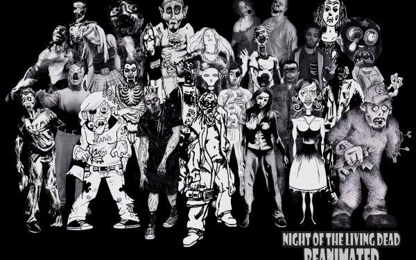 Dark Zombie Night of the Living Dead Horror Halloween HD Wallpaper   Background Image