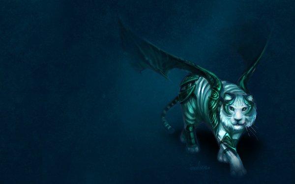 Fantaisie Tigre Animaux Fantastique Wings Magical Fond d'écran HD | Image