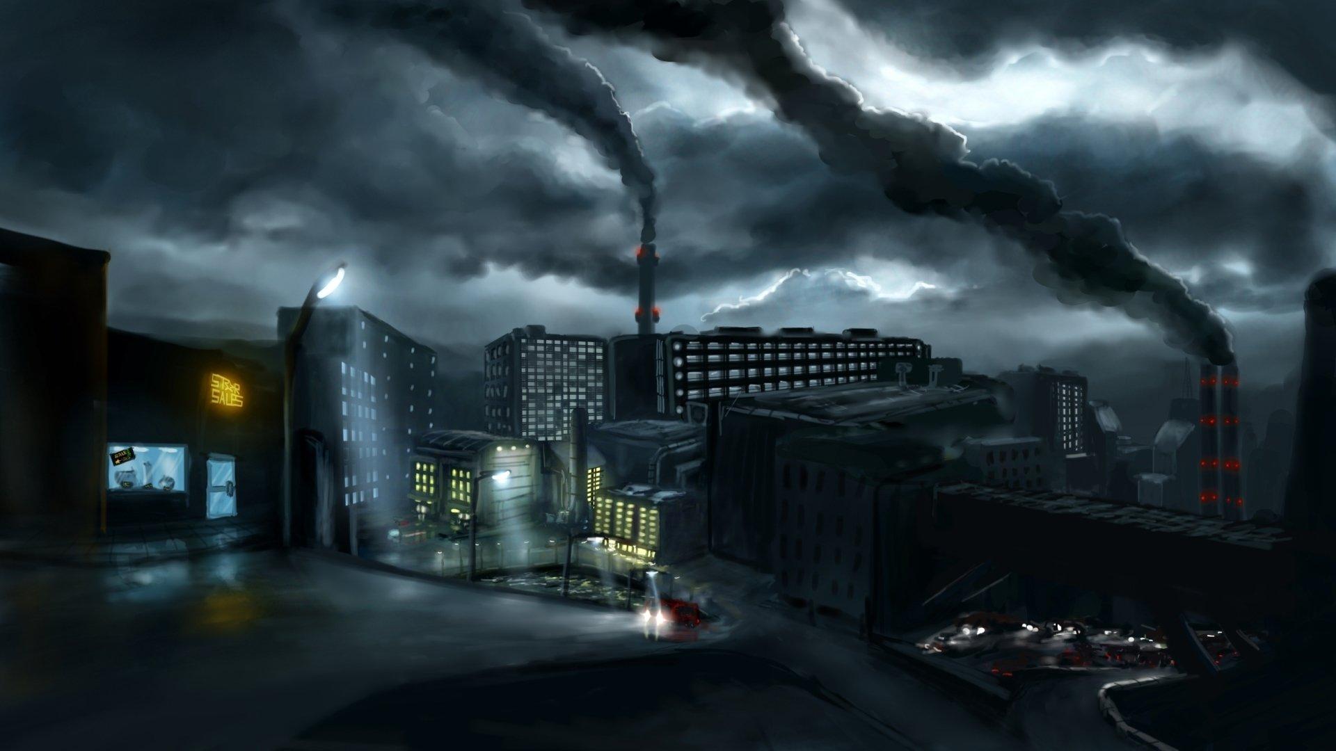 Http Alexlinde Deviantart Com Art Industrial Town