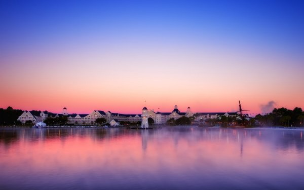 Man Made Town Towns Sunset Sunrise Reflection Lighthouse Scenic Dusk HD Wallpaper | Background Image