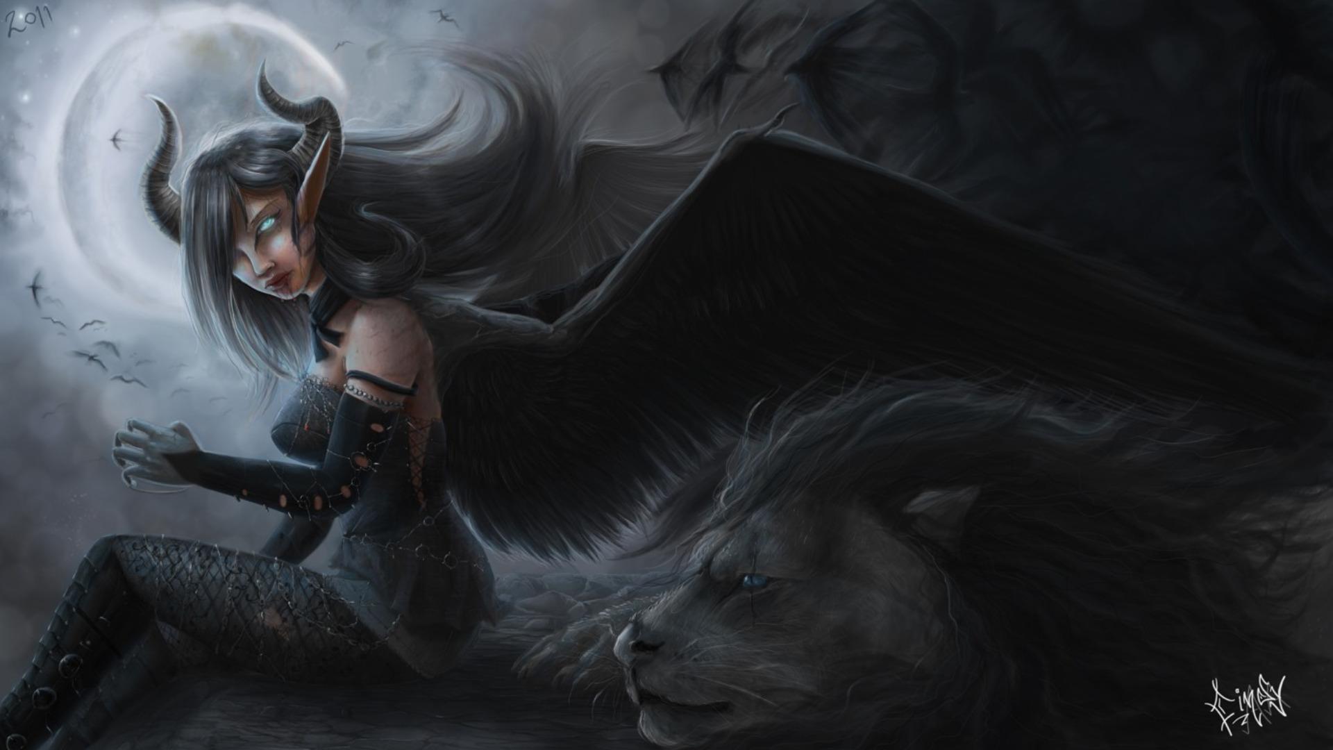 female demon wallpapers myspace - photo #25