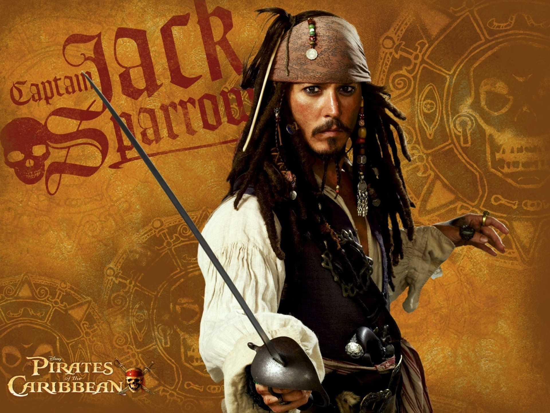 Captain Jack Sparrow Full HD Wallpaper And Background