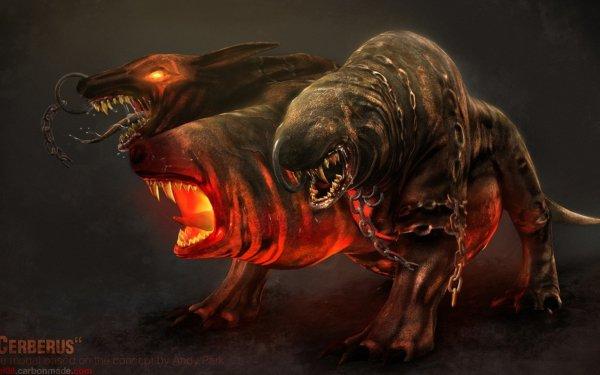 Fantaisie Cerberus Animaux Fantastique Fond d'écran HD | Arrière-Plan