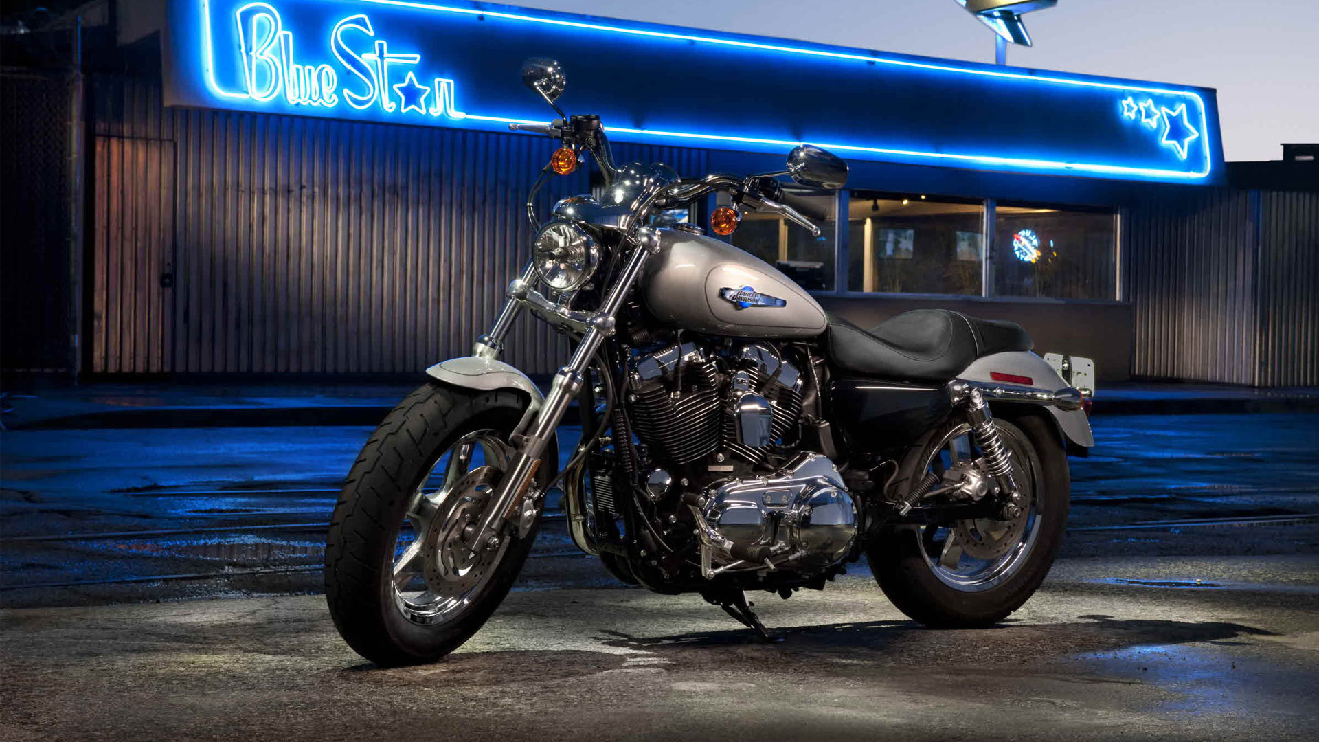 Harley Davidson Sportster XL1200C Custom HD Wallpaper