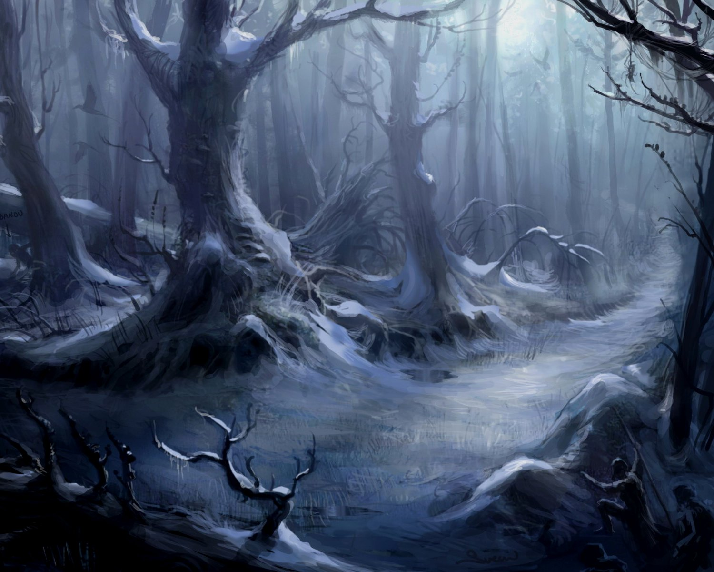 Horror creepy spooky scary halloween forest wallpaper