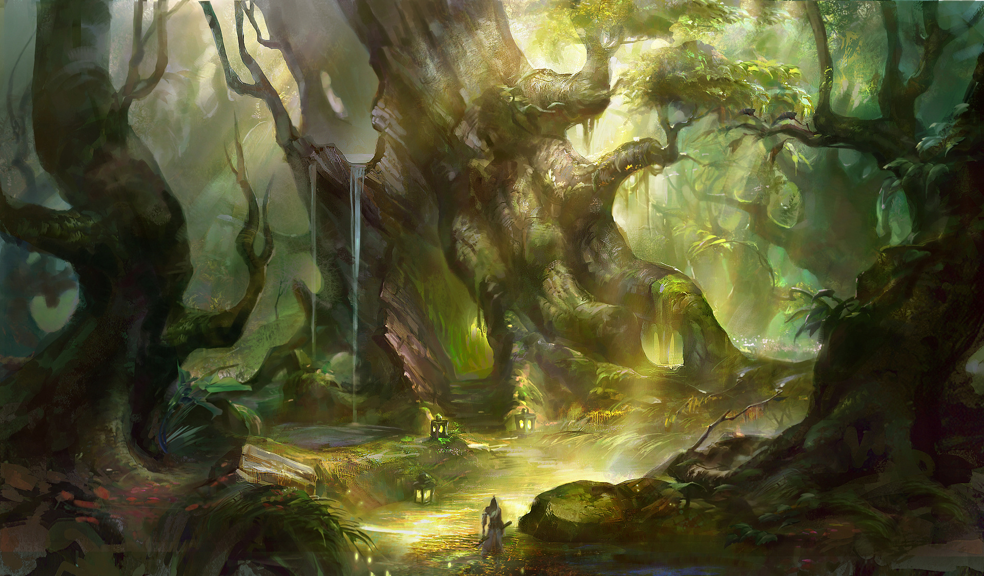 150 Adventure HD Wallpapers | Background Images ... Anime Forest Clearing Background