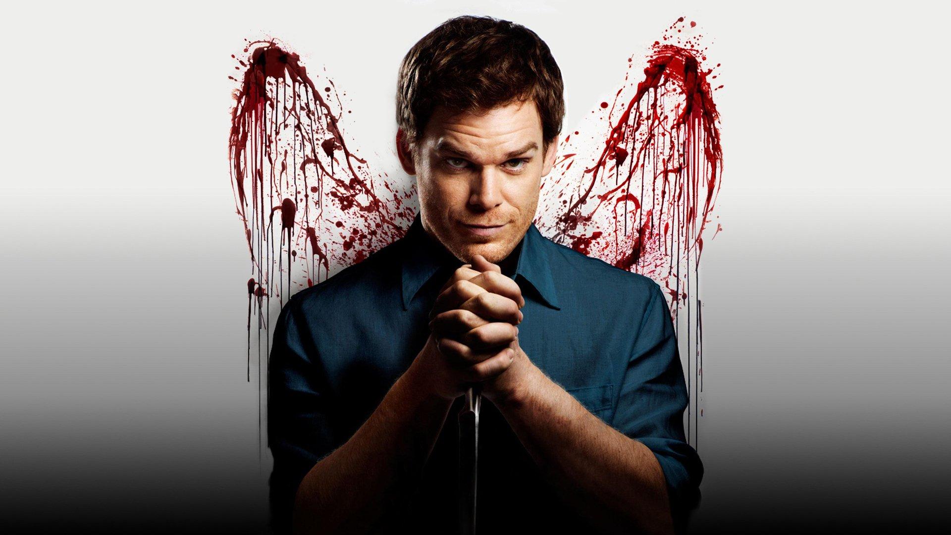 TV-program - Dexter  Michael C. Hall Dexter (TV Show) Dexter Morgan Blod Bakgrund