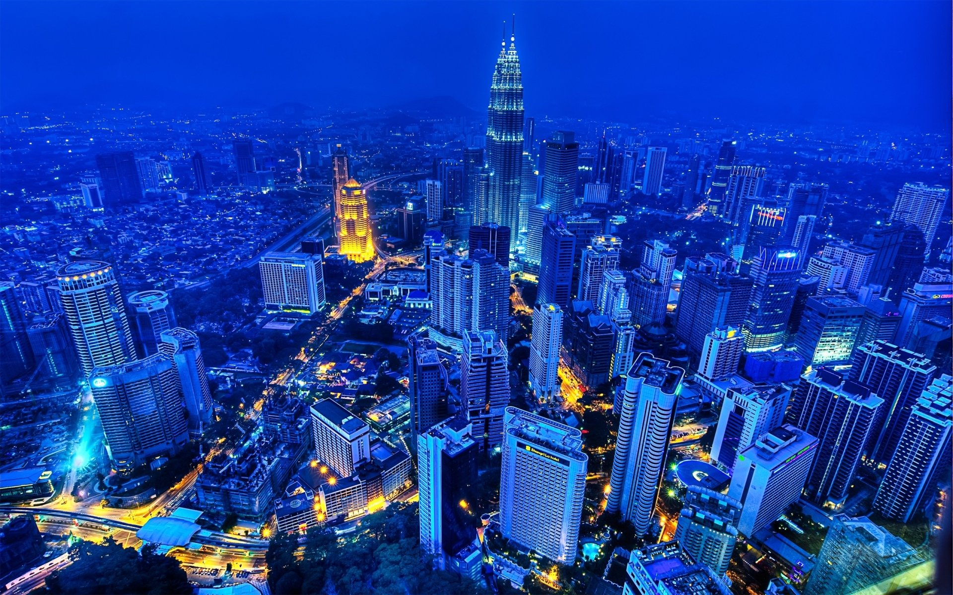Man Made - Kuala Lumpur  City Town Metropolis Building Skyscraper Sky Cloud Cityscape Scenic Architecture Night Light HDR Wallpaper