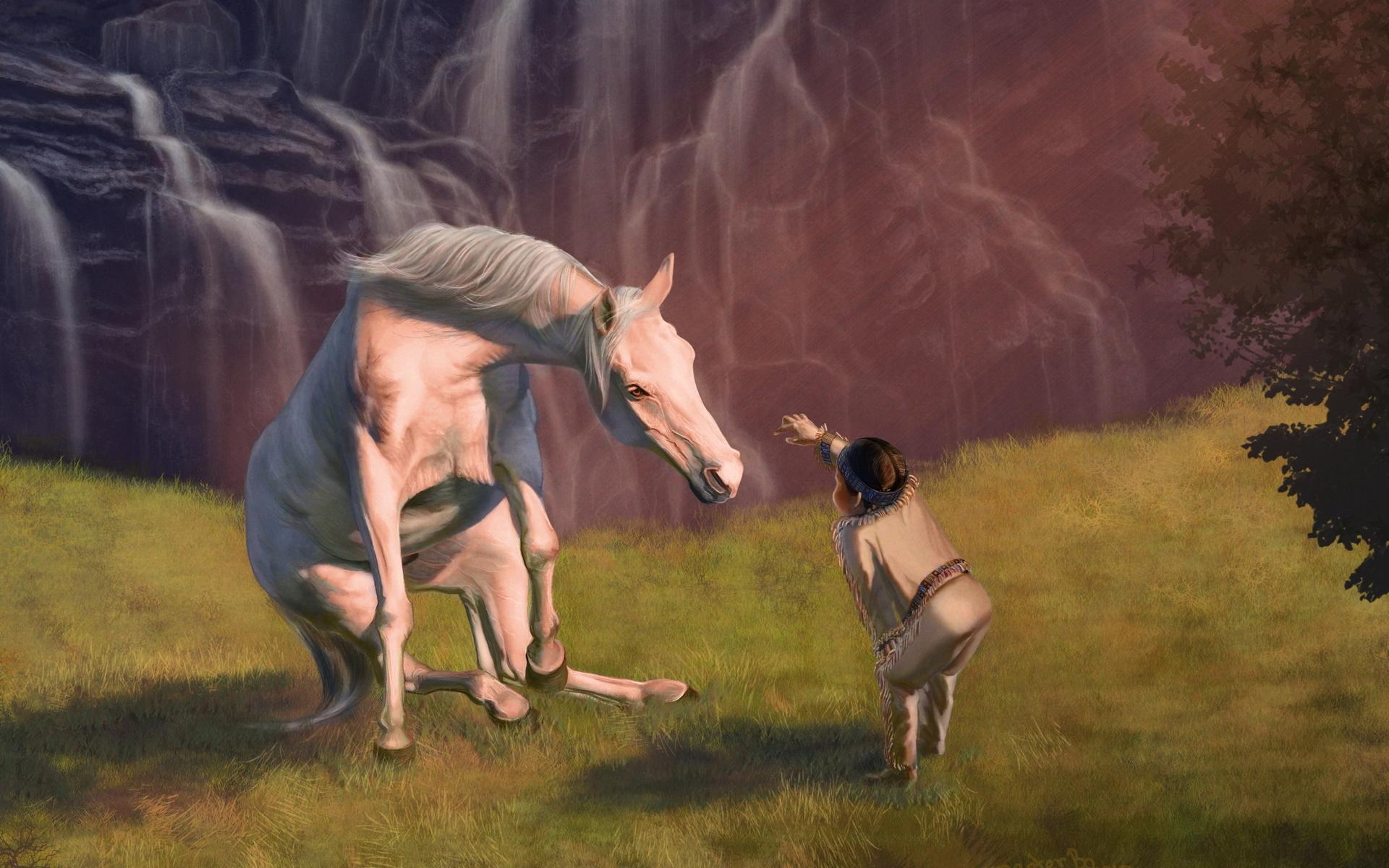 фото арт лошадей