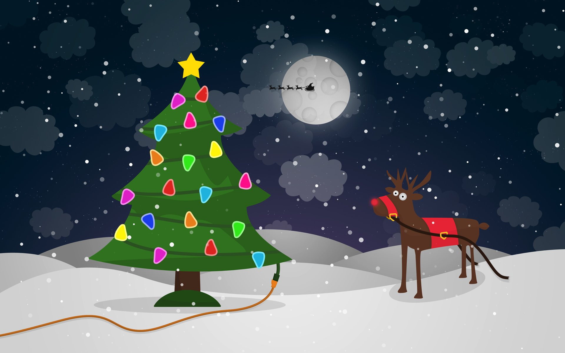 Holiday - Christmas  Christmas Tree Reindeer Humor Wallpaper