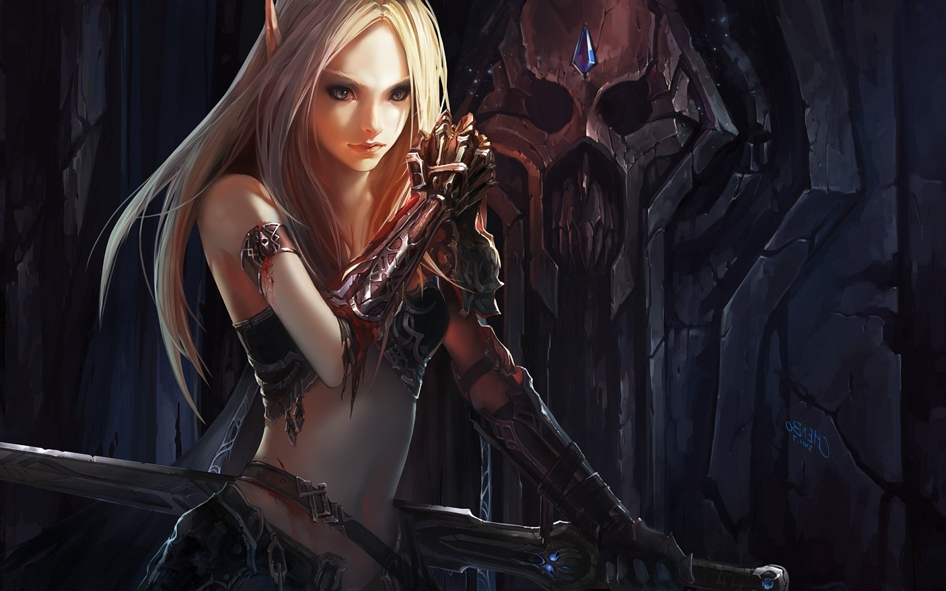 Warcraft girl blood elf and girl orc  sexy gallery
