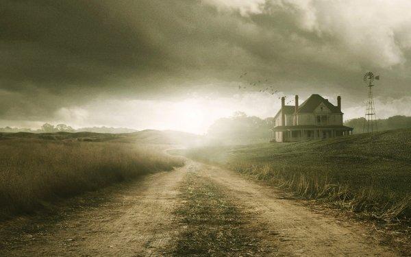 Séries TV The Walking Dead Maison Dirt Road Fond d'écran HD | Image