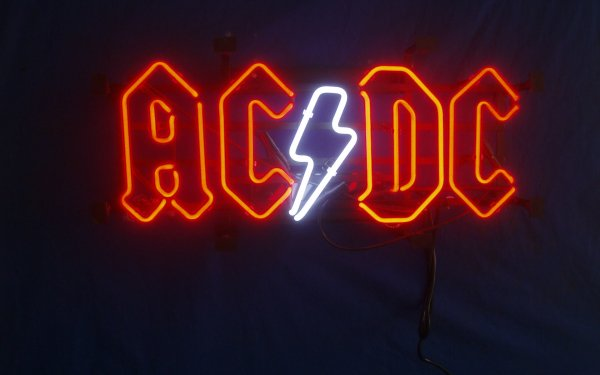 Music AC/DC Band (Music) Australia Neon Sign Neon Sign Photography HD Wallpaper | Background Image