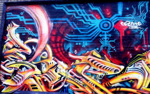 Artistic Graffiti Trippy Psychedelic Urban HD Wallpaper | Background Image