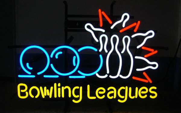 Photography Neon Neon Sign Sign Bowling HD Wallpaper | Background Image