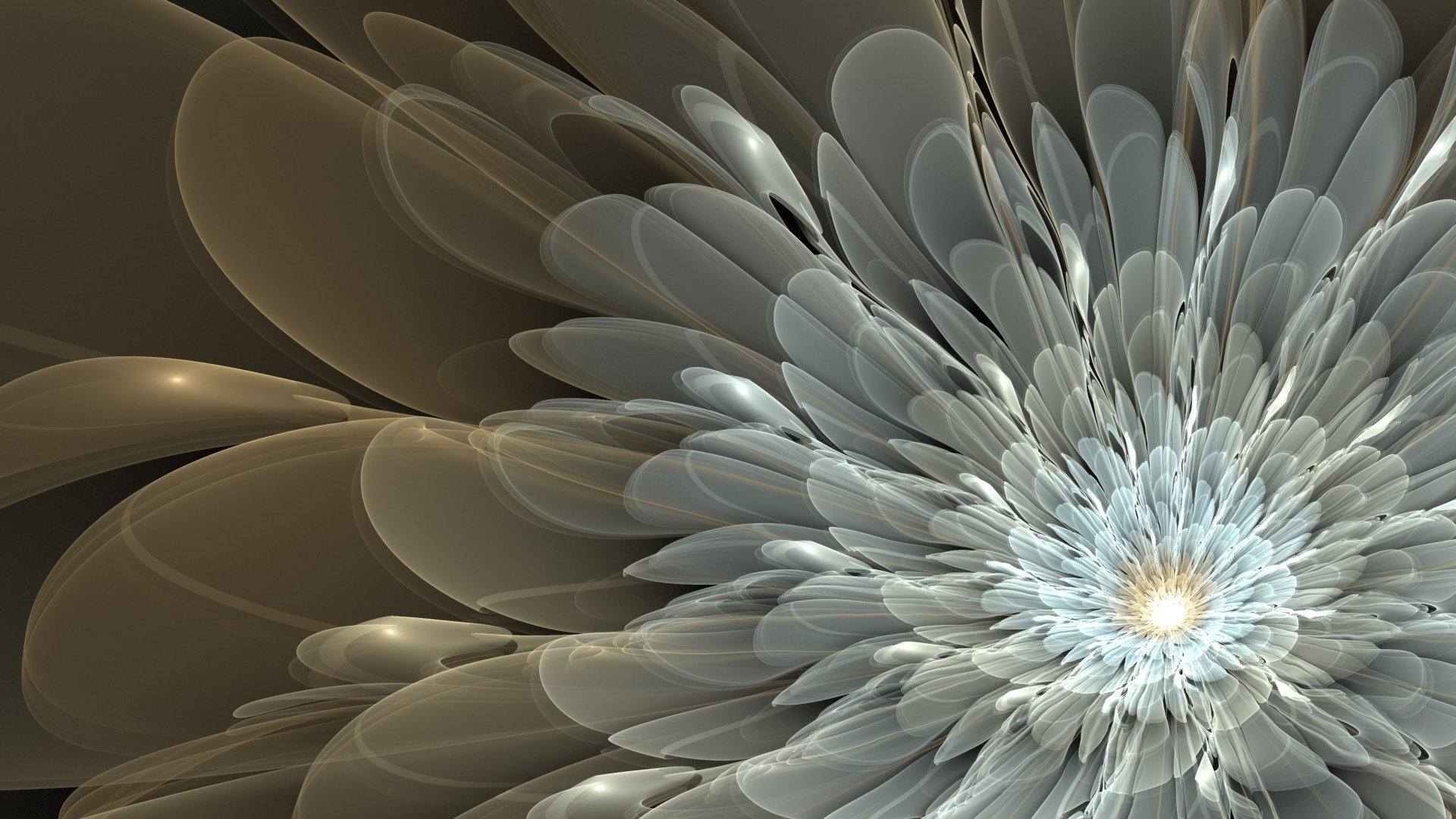 Abstract - Fractal  CGI Digital Art 3D Abstract Artistic Wallpaper
