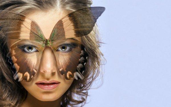 Women Artistic Face Butterfly Woman HD Wallpaper | Background Image