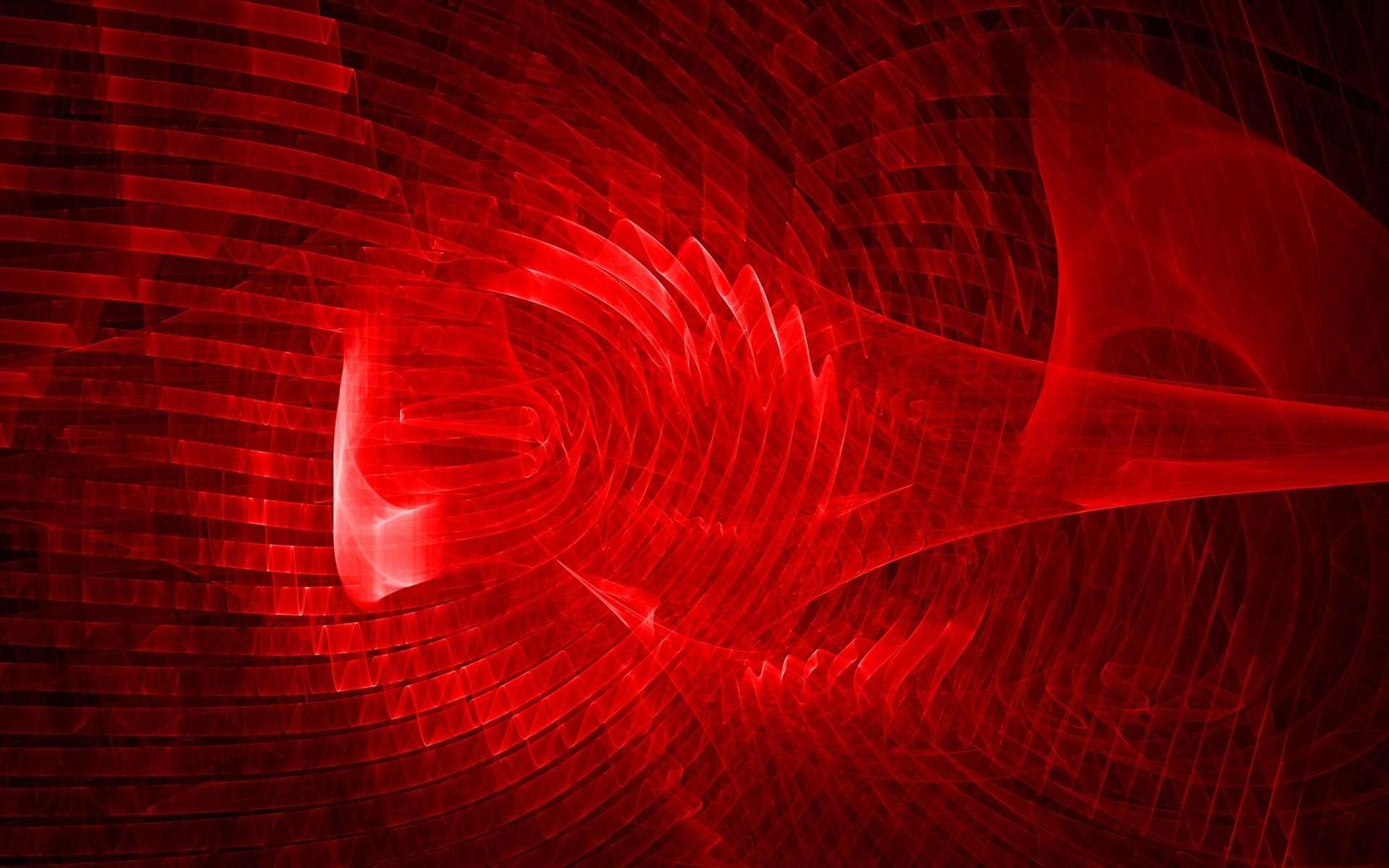 Abstract - Red  Artistic Abstract Plasma Lines Wave Wallpaper
