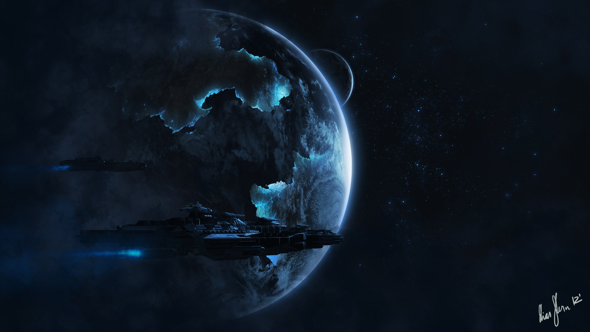 alien spaceship computer wallpapers desktop backgrounds