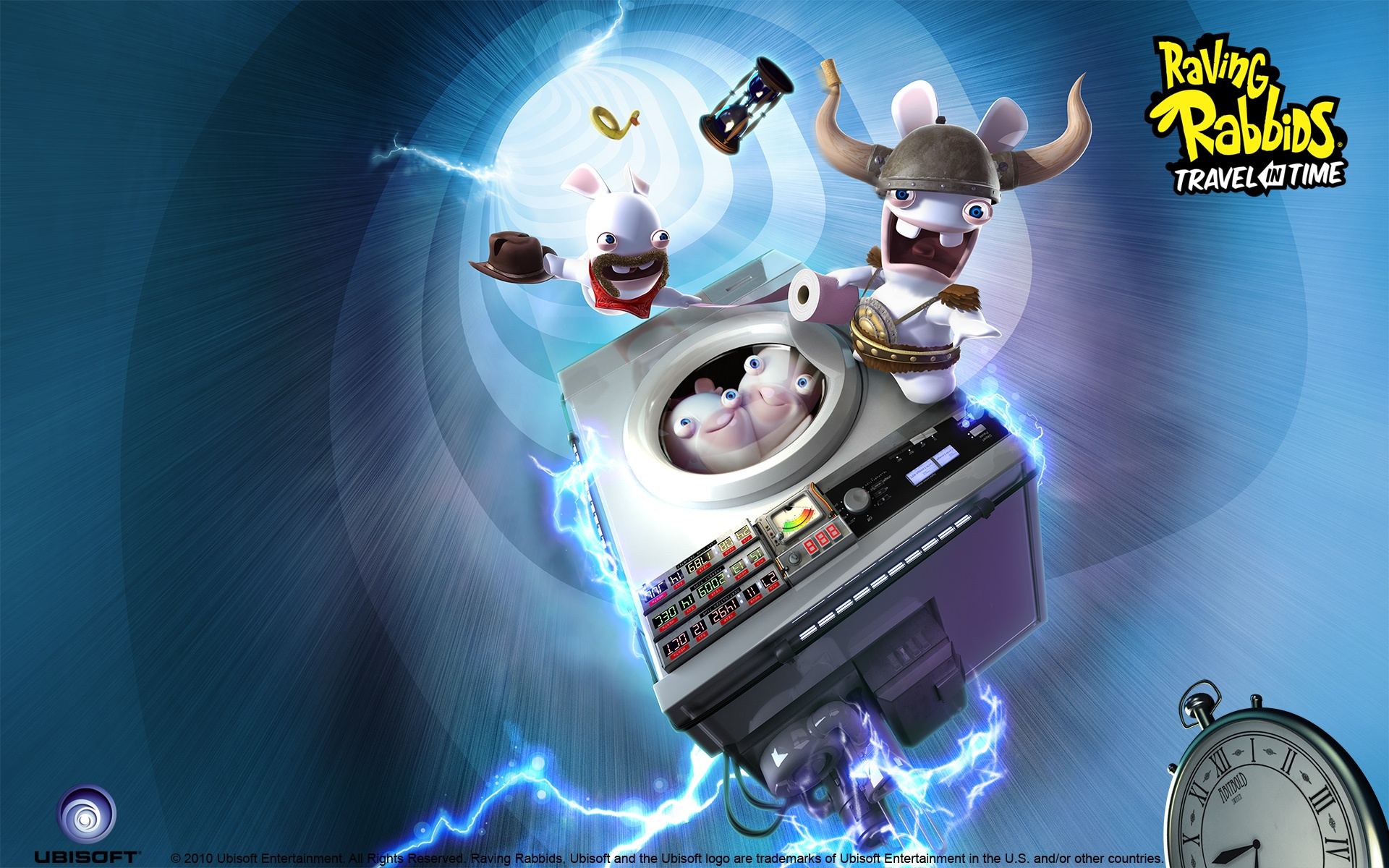 raving rabbids travel in time full hd wallpaper and