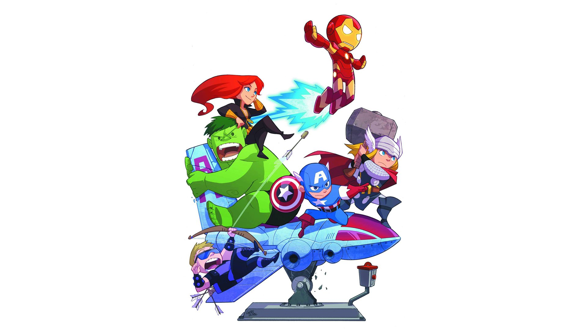 Comics - Avengers  Black Widow Iron Man Hulk Captain America Thor Hawkeye Wallpaper