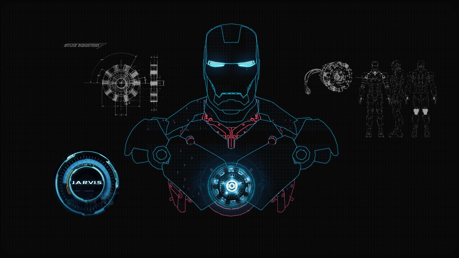 Iron Man Full HD Tapeta and Tło | 1920x1080