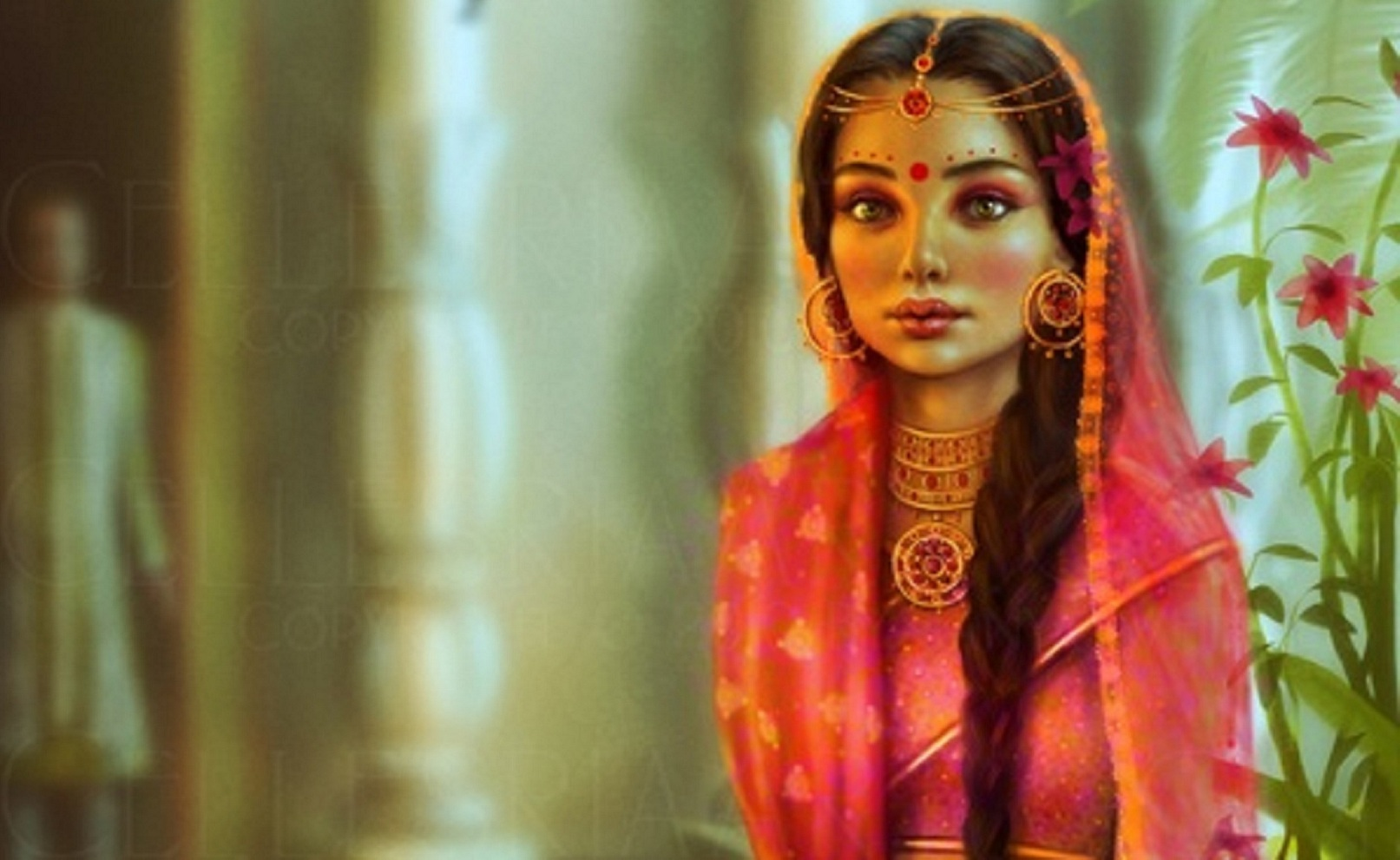indian bride wallpaper and background image | 1613x991 | id:321591