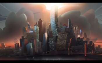 CGI - City Wallpapers and Backgrounds ID : 322365