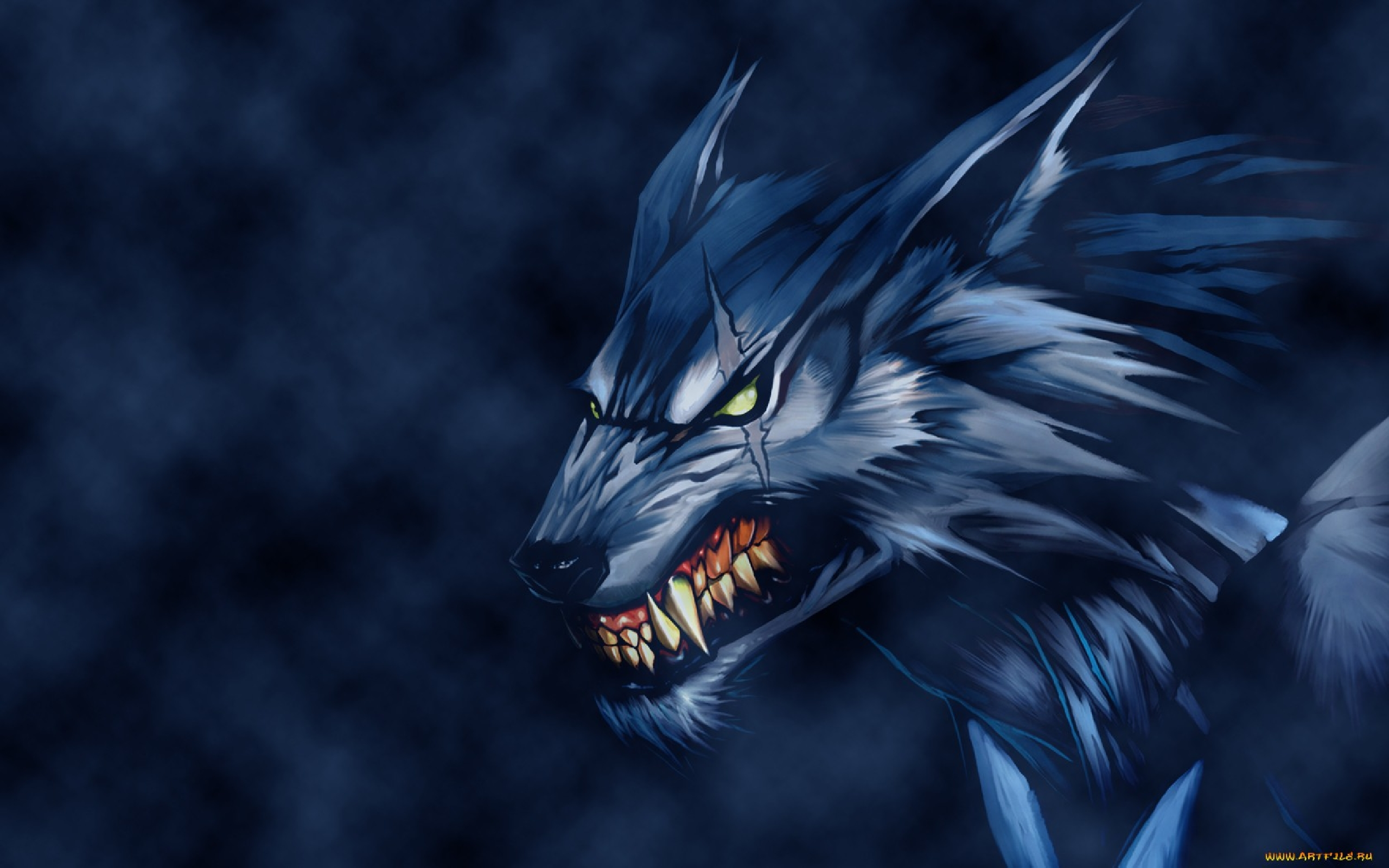 wallpaper loup fond-#38
