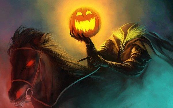 Mörk Läskig Helgdag Halloween Jack-O'-Lantern HD Wallpaper | Background Image