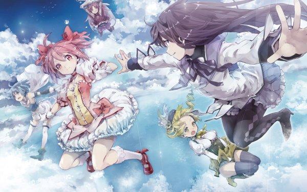 Anime Puella Magi Madoka Magica Homura Akemi Madoka Kaname Kyōko Sakura Mami Tomoe Sayaka Miki Kyuubey HD Wallpaper | Background Image